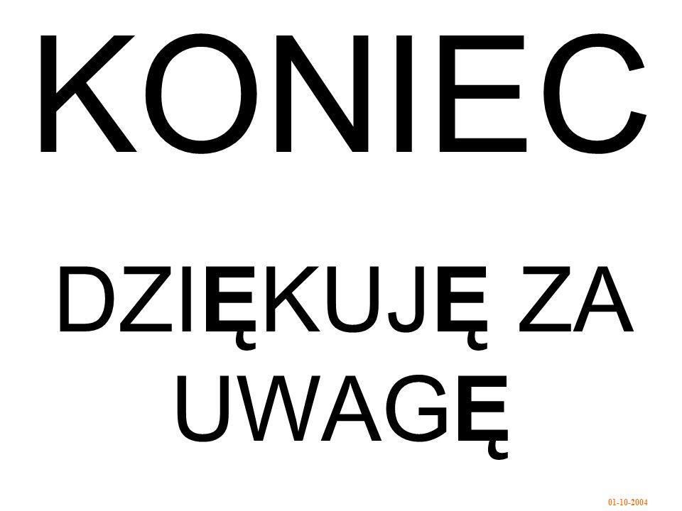 01-10-2004 KONIEC DZIĘKUJĘ ZA UWAGĘ