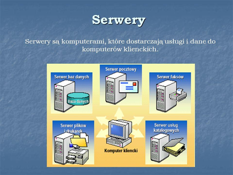 Serwery są komputerami, które dostarczają usługi i dane do komputerów klienckich. Serwery