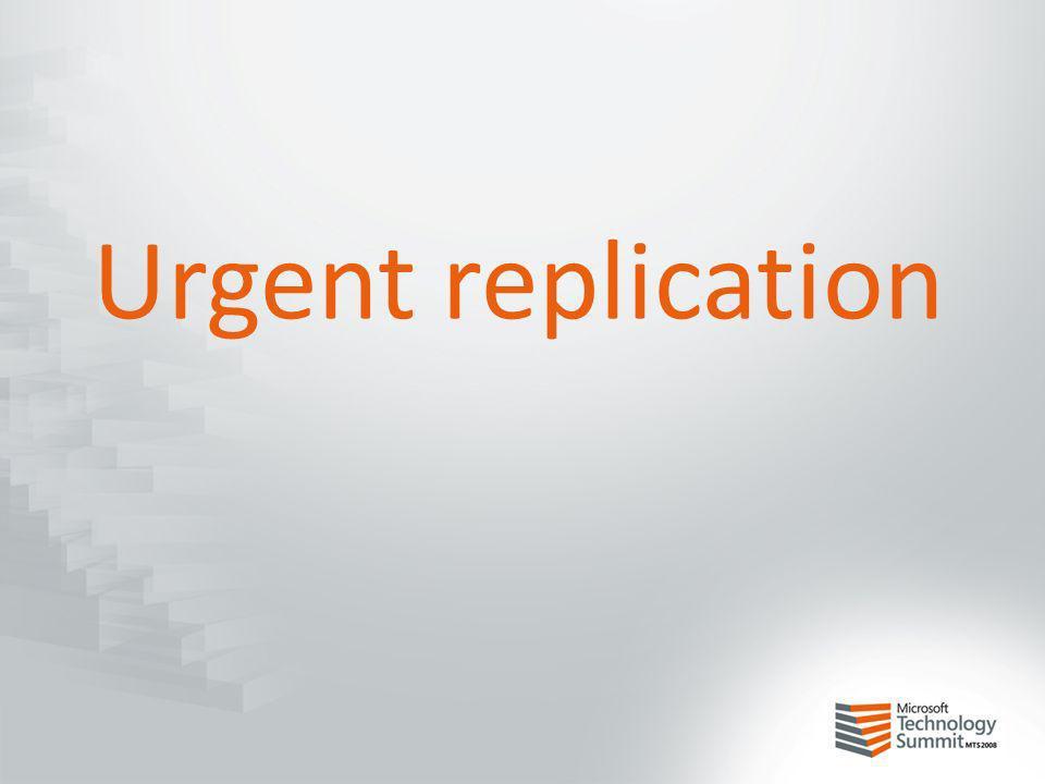 Urgent replication