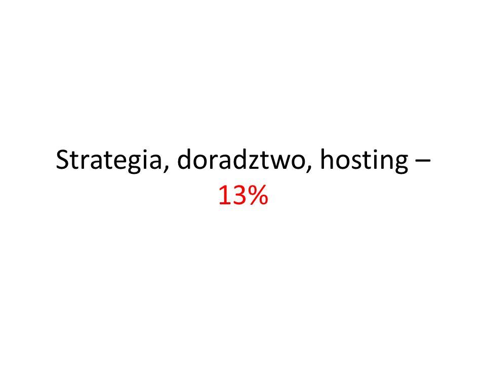 Strategia, doradztwo, hosting – 13%