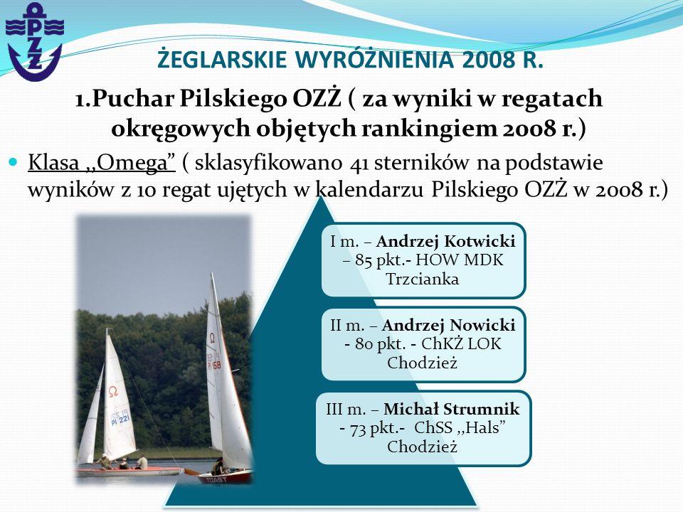 I m. – Andrzej Kotwicki – 85 pkt.- HOW MDK Trzcianka II m. – Andrzej Nowicki - 80 pkt. - ChKŻ LOK Chodzież III m. – Michał Strumnik - 73 pkt.- ChSS,,H