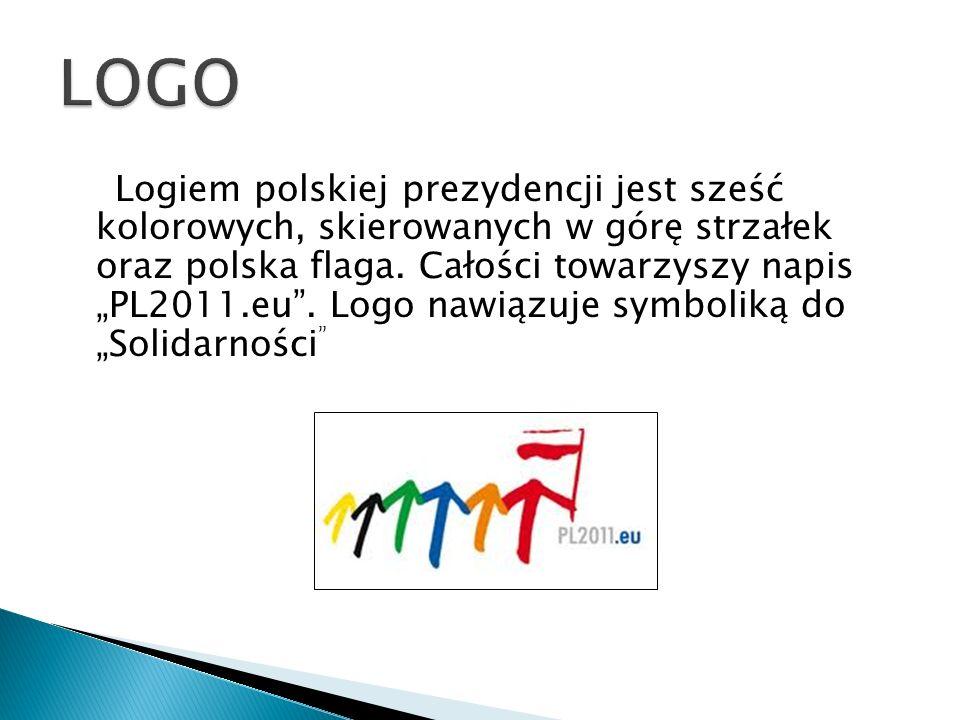 Logiem polskiej prezydencji jest sześć kolorowych, skierowanych w górę strzałek oraz polska flaga. Całości towarzyszy napis PL2011.eu. Logo nawiązuje