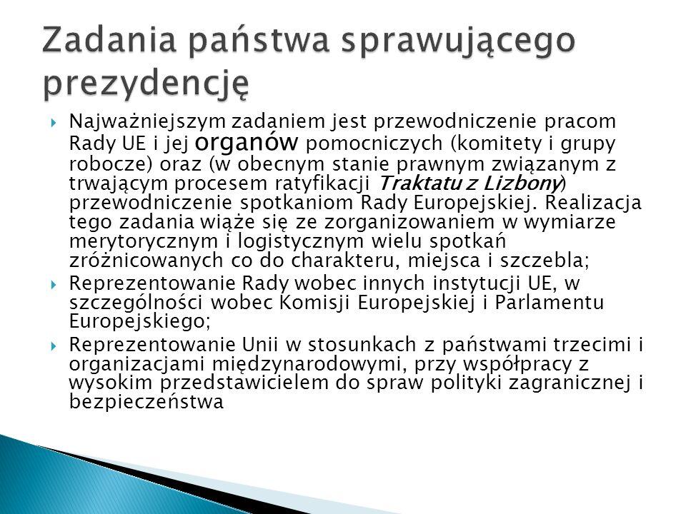 W celu koordynacji zadań związanych z przygotowaniami do sprawowania prezydencji 15 lipca 2008 roku Rada Ministrów powołała Pełnomocnika Rządu do spraw Przygotowania Organów Administracji Rządowej i Sprawowania przez Rzeczpospolitą Polską Przewodnictwa w Radzie Unii Europejskiej.