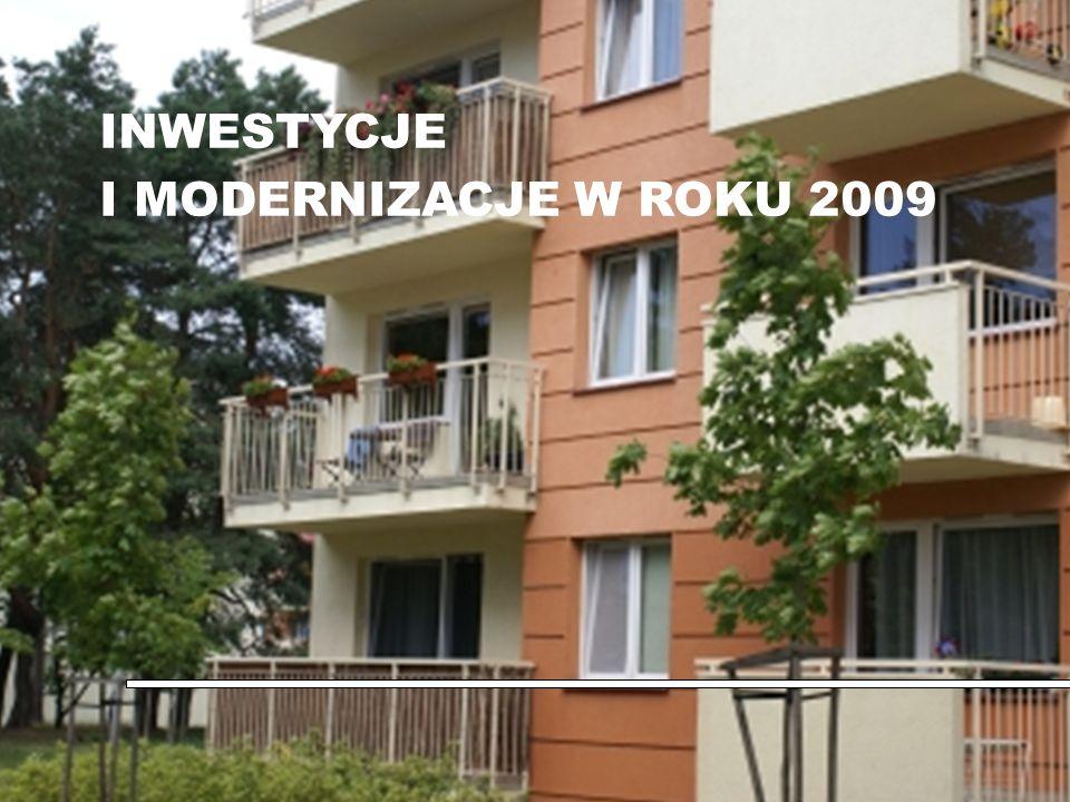 Oddział Regionalny WAM w Warszawie EFEKTY INWESTYCYJNE I MODERNIZACYJNE ROKU 2009 R a p o r t z wykonania podstawowych zadań objętych planem inwestycyjnym w zakresie budownictwa mieszkaniowego i ulepszenia (modernizacji) istniejącego zasobu lokalowego: trwa realizacja projektu inwestycyjnego w zakresie budowy 64 lokali mieszkalnych w Rembertowie, a zadowalające zaangażowanie prac wskazuje na osiągnięcie planowanego efektu w roku 2011 w czerwcu br.