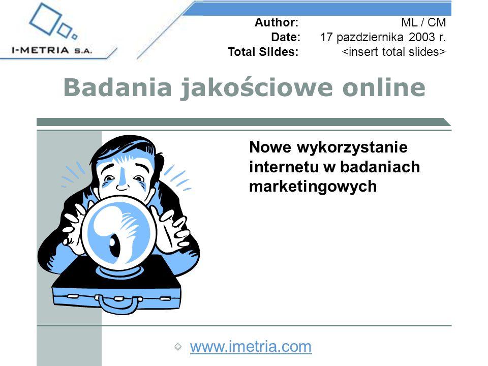 www.imetria.com Author:ML / CM Date:17 pazdziernika 2003 r.