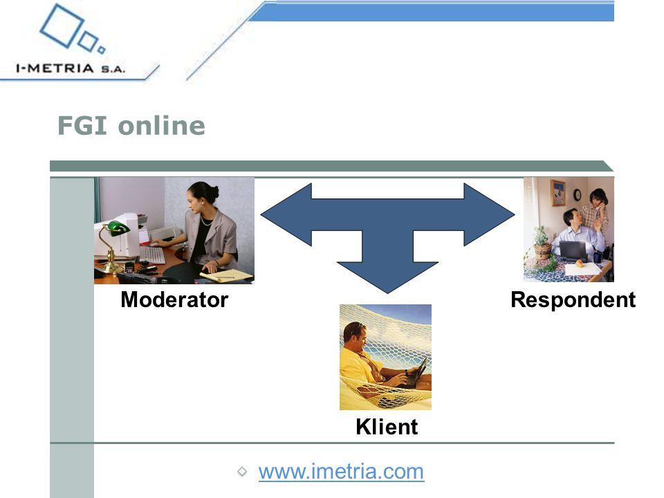 www.imetria.com Możliwości badań jakościowych online - serwisy WWW Ocen a witry n Skuteczność Przekazu reklamowego Wygląd Funkcjonalność Nawigacja Rozwiązania techniczne