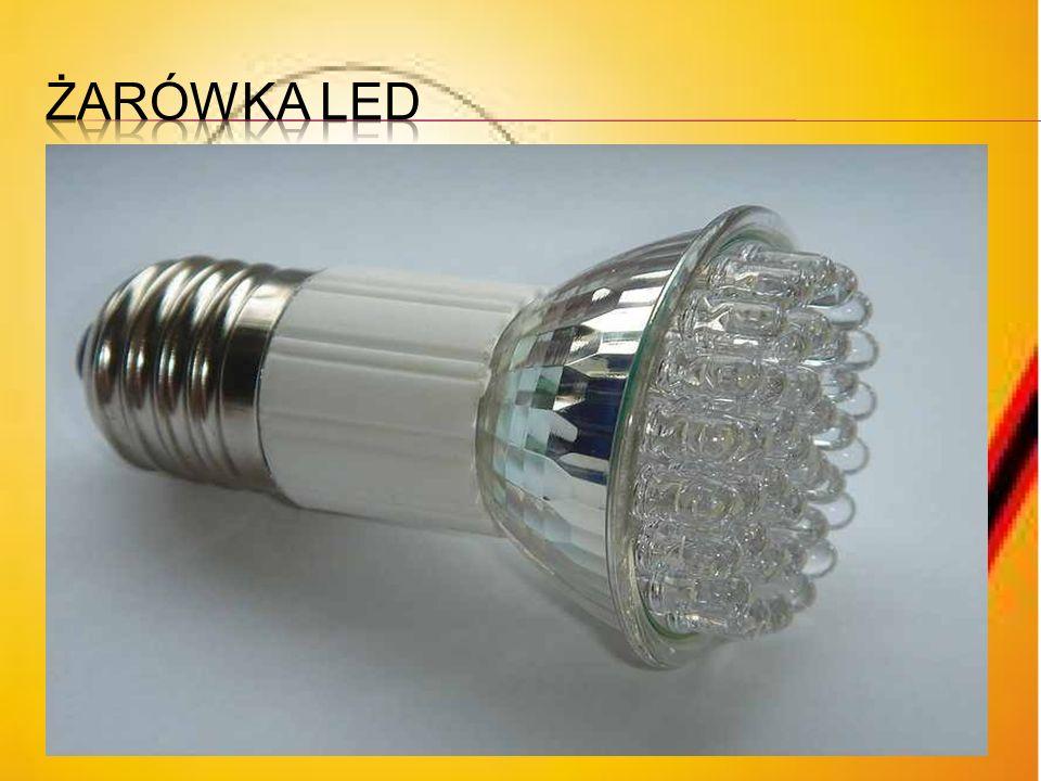 Żarówki LEDowe Najnowszym rodzajem zamiennika żarówek są lampy składające się z kilkudziesięciu diod LED. W diodach światło wytwarzane jest w półprzew