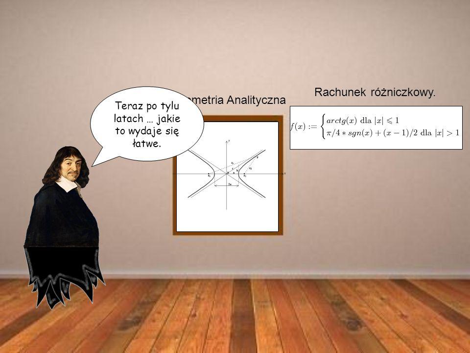 Geometria Analityczna Rachunek różniczkowy. Teraz po tylu latach … jakie to wydaje się łatwe.