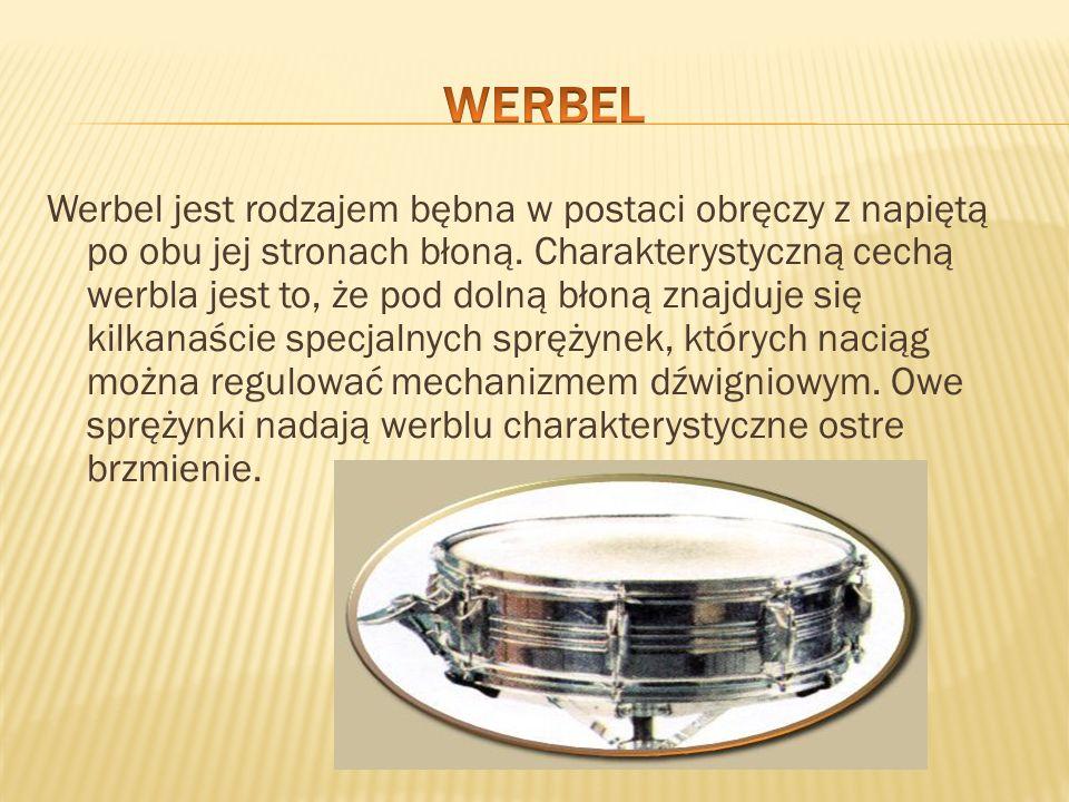 Werbel jest rodzajem bębna w postaci obręczy z napiętą po obu jej stronach błoną. Charakterystyczną cechą werbla jest to, że pod dolną błoną znajduje