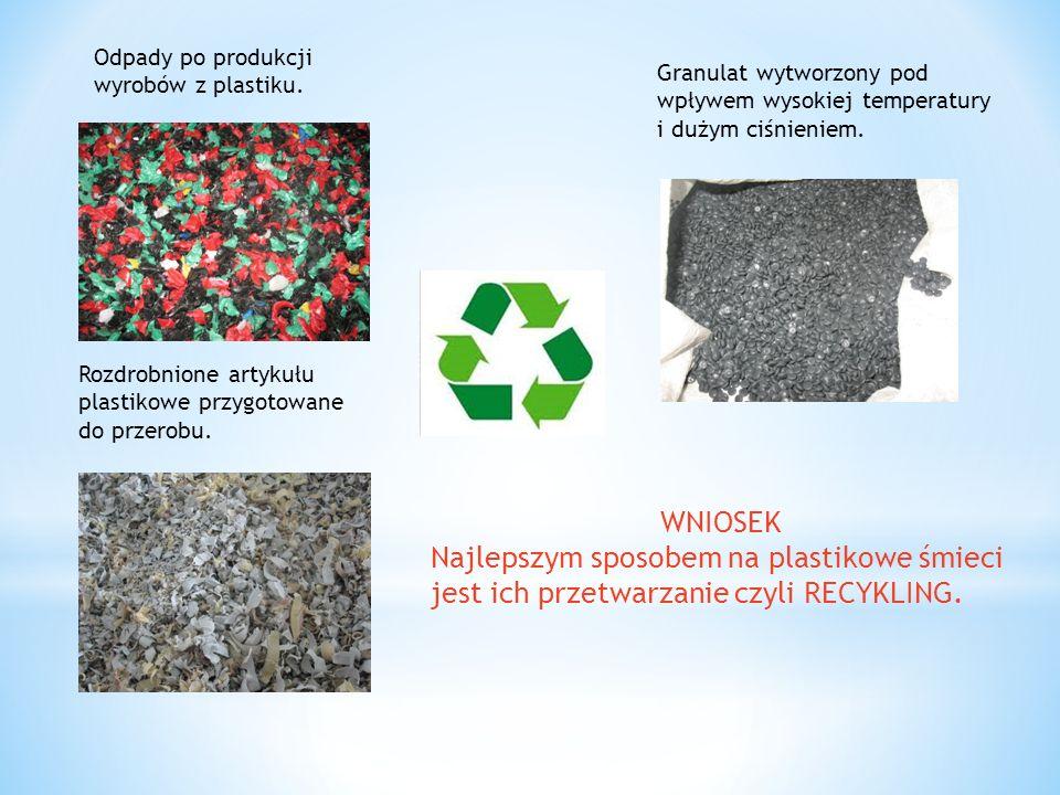 Odpady po produkcji pieluch jednorazowych. A to co z nich zostało.