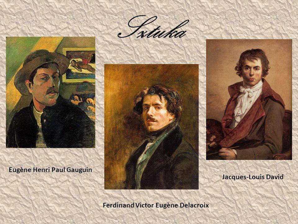 Sztuka Eugène Henri Paul Gauguin Jacques-Louis David Ferdinand Victor Eugène Delacroix