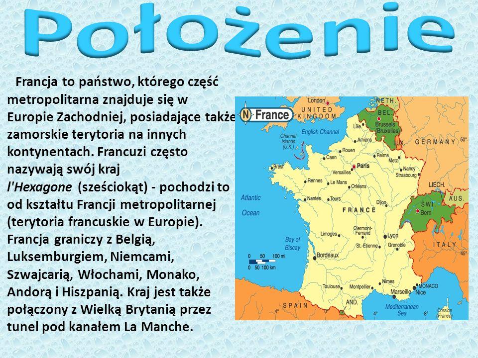 Francja to państwo, którego część metropolitarna znajduje się w Europie Zachodniej, posiadające także zamorskie terytoria na innych kontynentach. Fran