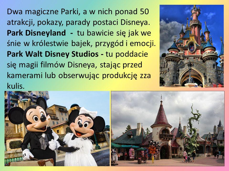 Dwa magiczne Parki, a w nich ponad 50 atrakcji, pokazy, parady postaci Disneya. Park Disneyland - tu bawicie się jak we śnie w królestwie bajek, przyg
