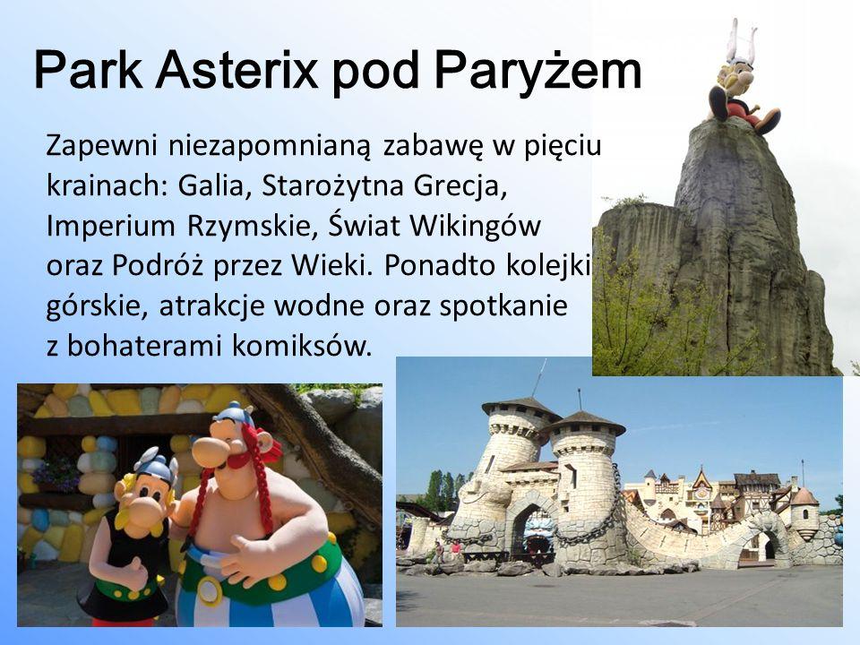 Park Asterix pod Paryżem Zapewni niezapomnianą zabawę w pięciu krainach: Galia, Starożytna Grecja, Imperium Rzymskie, Świat Wikingów oraz Podróż przez
