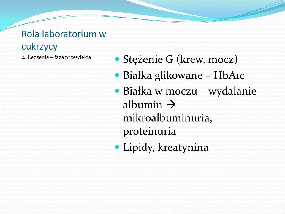 Rola laboratorium w cukrzycy 4.
