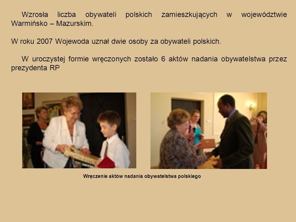 Wzrosła liczba obywateli polskich zamieszkujących w województwie Warmińsko – Mazurskim.