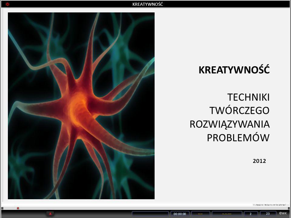 ©WK 00:00:00 --:----.--.---- 2 23 KREATYWNOŚĆ TECHNIKI TWÓRCZEGO ROZWIĄZYWANIA PROBLEMÓW 2012