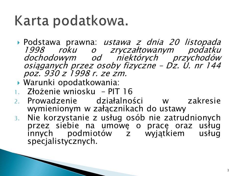 Podstawa prawna: ustawa z dnia 20 listopada 1998 roku o zryczałtowanym podatku dochodowym od niektórych przychodów osiąganych przez osoby fizyczne – Dz.