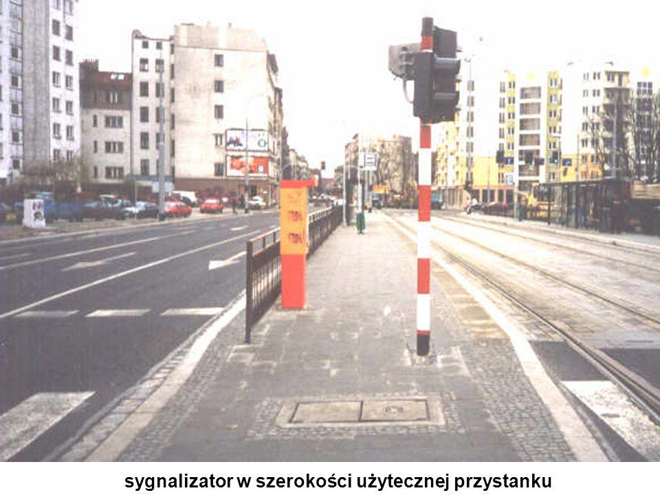 sygnalizator w szerokości użytecznej przystanku