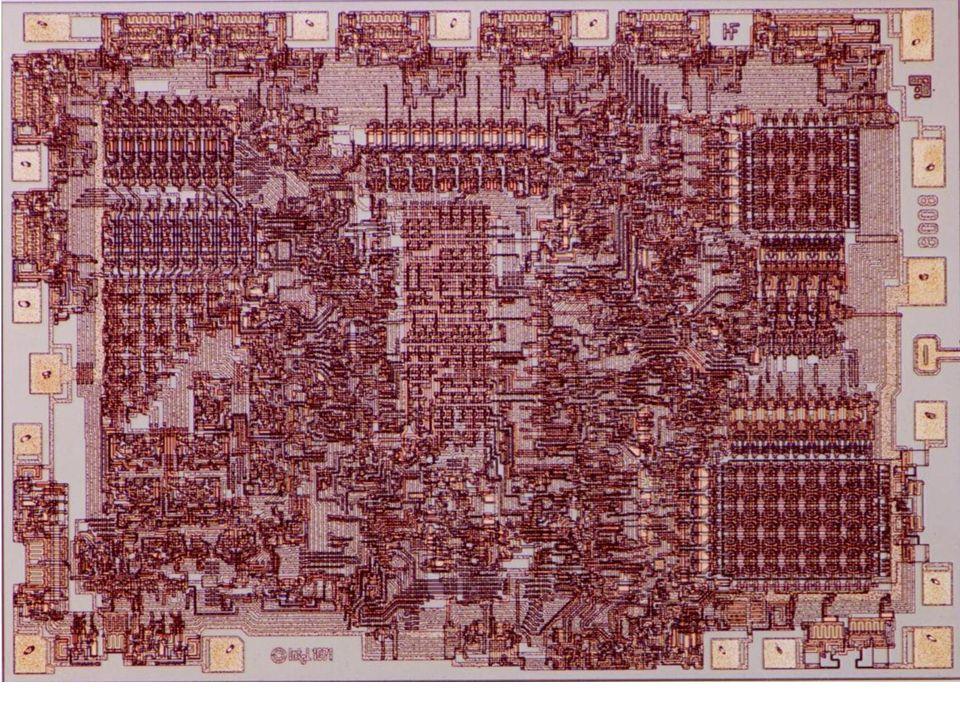 1972r. – Intel 8008 (technologia PMOS) 8 - bitowy, 45 rozkazów, 16kB przestrzeń adresowa, 300000 rozkazów/s