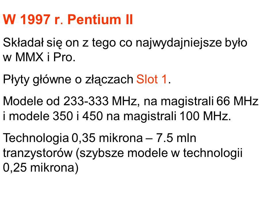 1994-96 r. Konkurenci Intela Cyrix M1 – koniec 1995 r. AMD K5 – początek 1996 r.