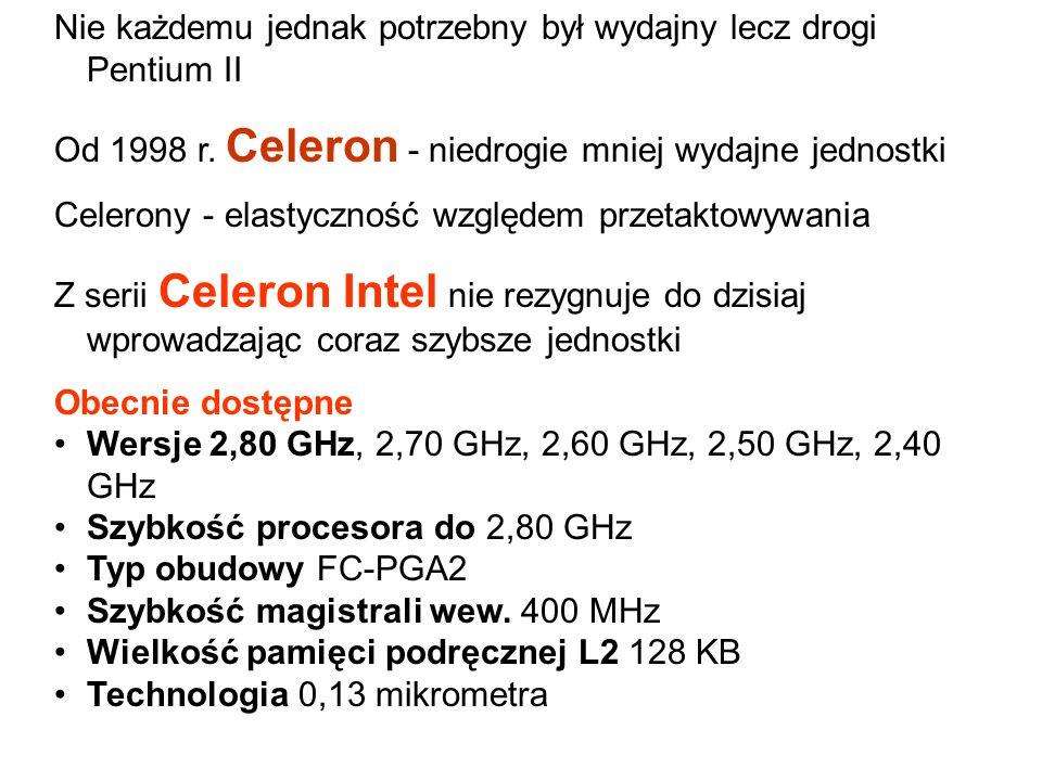 W 1997 r. Pentium II Składał się on z tego co najwydajniejsze było w MMX i Pro. Płyty główne o złączach Slot 1. Modele od 233-333 MHz, na magistrali 6