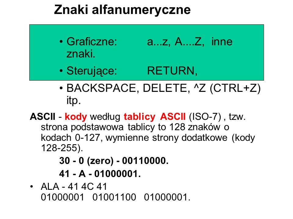 Ciągi liczbowe w układzie binarnym są niewygodne i stąd przyjął się ich zapis w postaci przeliczonej na układ szesnastkowy (heksadecymalny). W układzi
