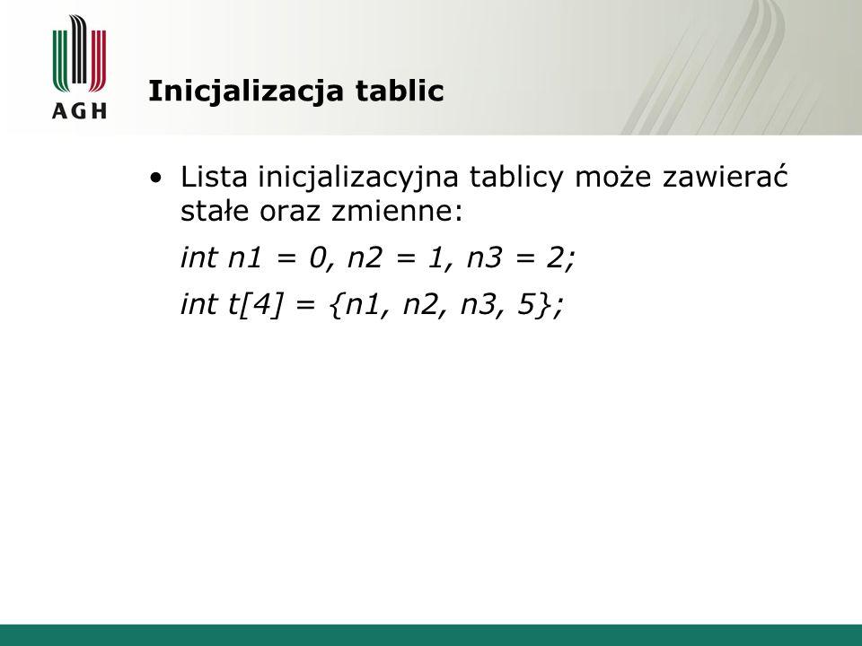 Przekazywanie tablic do funkcji Argumentem formalnym funkcji może być typ tablicowy.