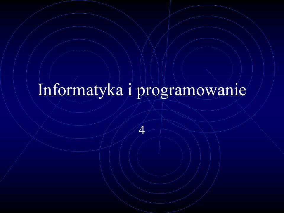 Informatyka i programowanie 4