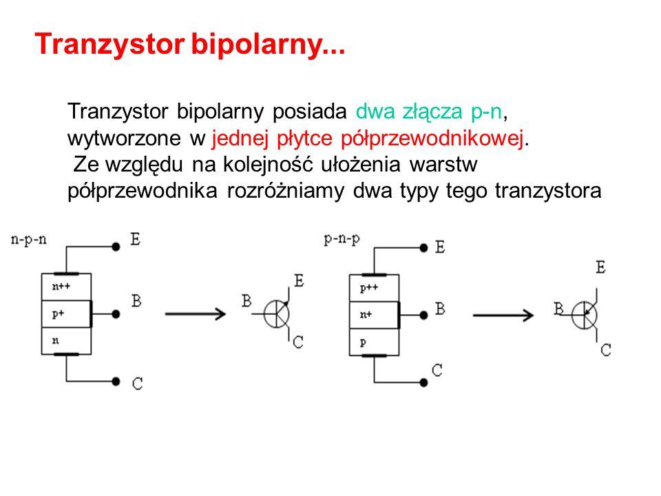Tranzystory bipolarne dzieli się na: krzemowe germanowe, a każdy z nich może być typu npn lub pnp. Tranzystory bipolarne