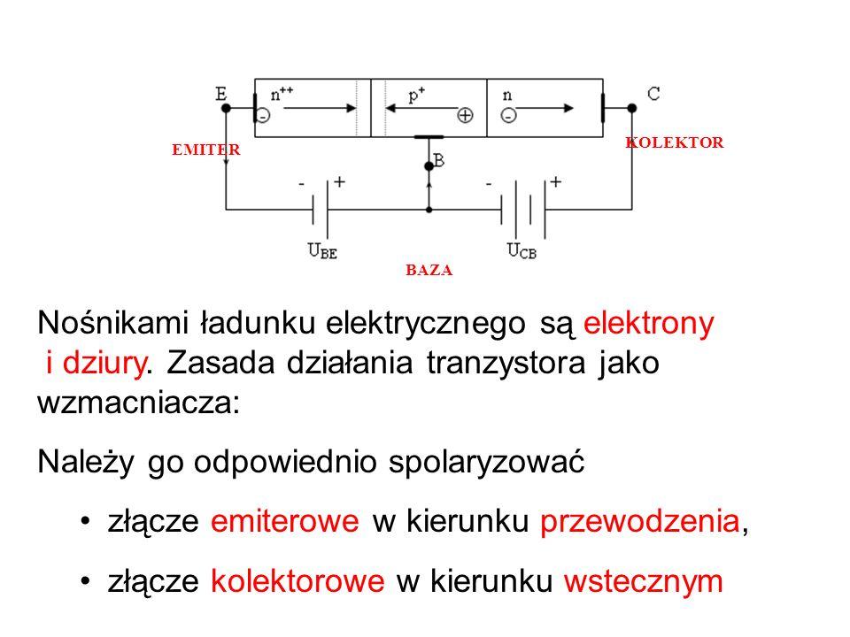 Tranzystor bipolarny... Tranzystor bipolarny posiada dwa złącza p-n, wytworzone w jednej płytce półprzewodnikowej. Ze względu na kolejność ułożenia wa