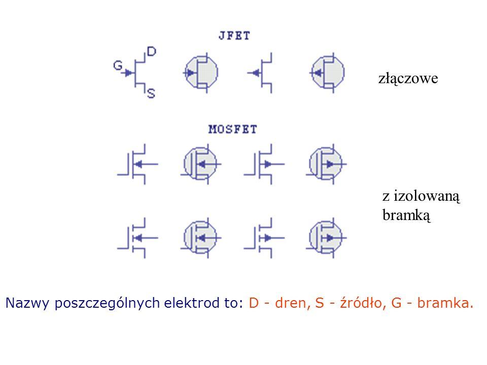 są również elementami półprzewodnikowymi lecz różnią się od bipolarnych tym, że są: sterowane polem elektrycznym nie pobierają mocy na wejściu. Tranzy