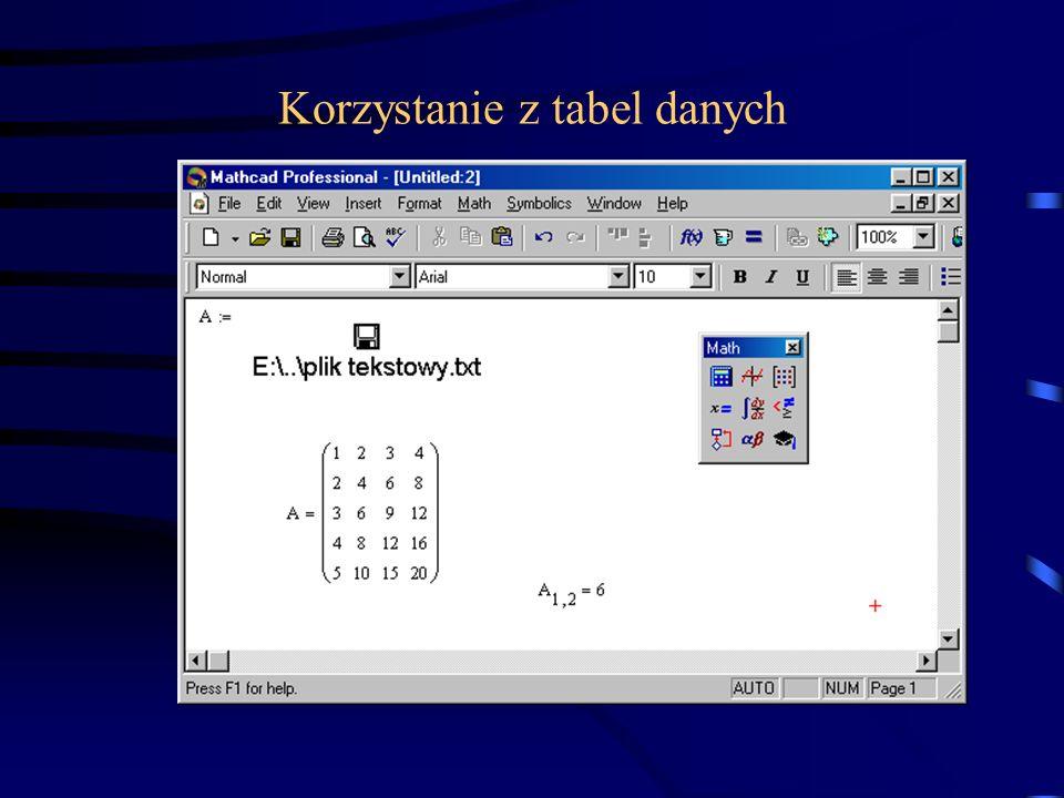 Arkusze Excela, umożliwiają operacje dostępne w Excelu.