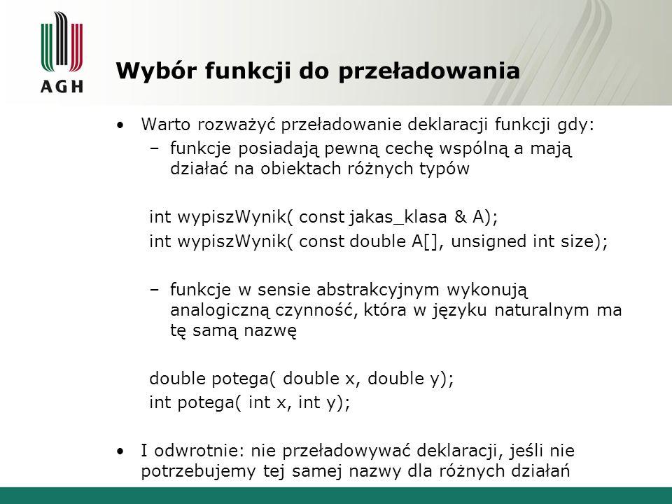 Konwersje przy dopasowaniu 2.Dopasowanie z awansem c.d.