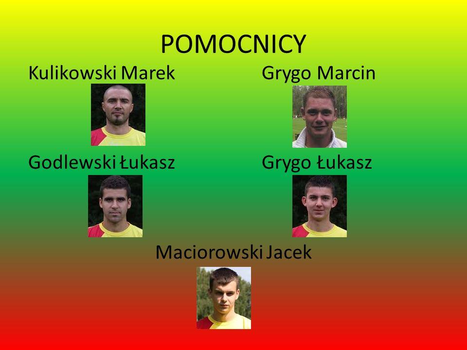 POMOCNICY Kulikowski MarekGrygo Marcin Godlewski Łukasz Grygo Łukasz Maciorowski Jacek