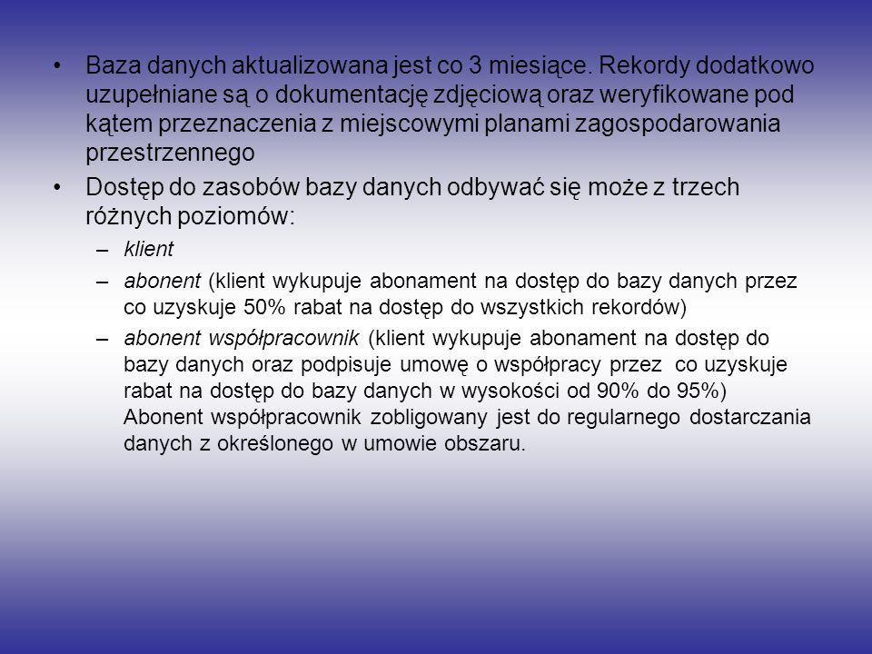 Obszar objęty bazą danych powiaty: chodzieski, czarnkowsko-trzcianecki, obornicki, szamotulski, międzychodzki, nowotomyski, wolsztyński, grodziski, kościański, śremski, gostyński, jarociński, średzki, wrzesiński, słupecki, gnieźnieński, wągrowiecki, poznański i miasto Poznań.