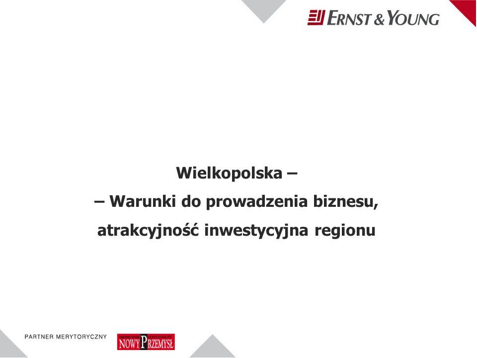 Wielkopolska – – Warunki do prowadzenia biznesu, atrakcyjność inwestycyjna regionu