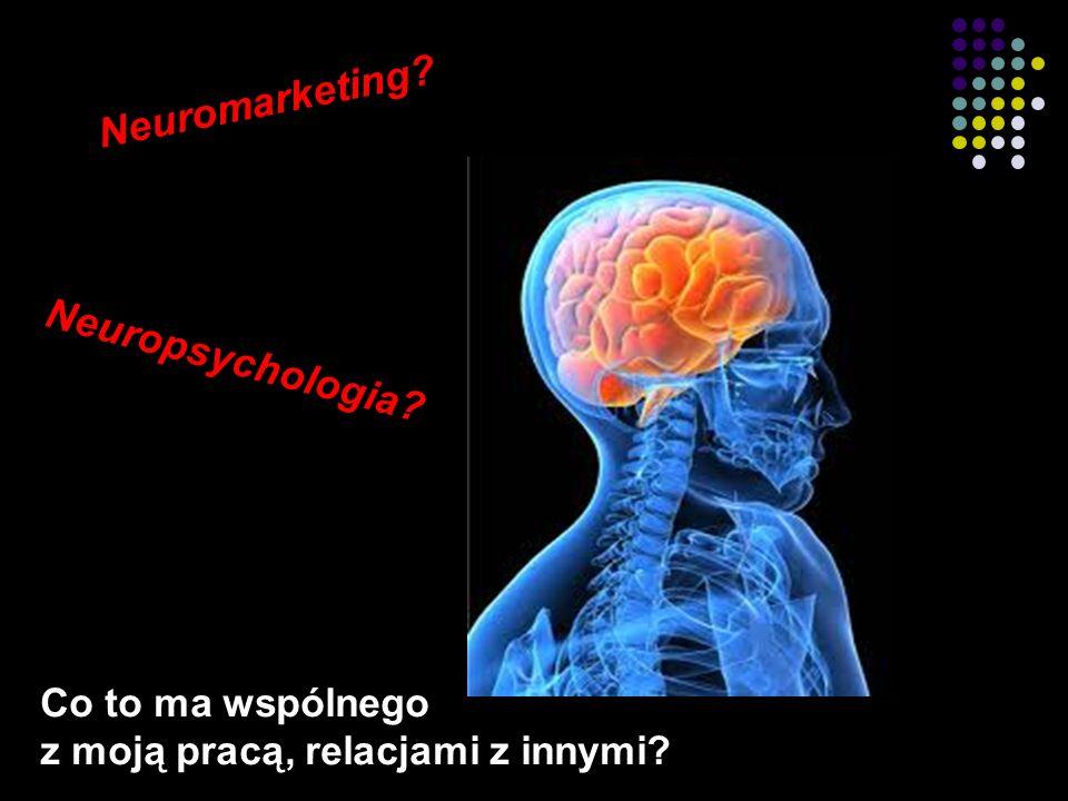 2 Co to ma wspólnego z moją pracą, relacjami z innymi? Neuropsychologia? Neuromarketing?
