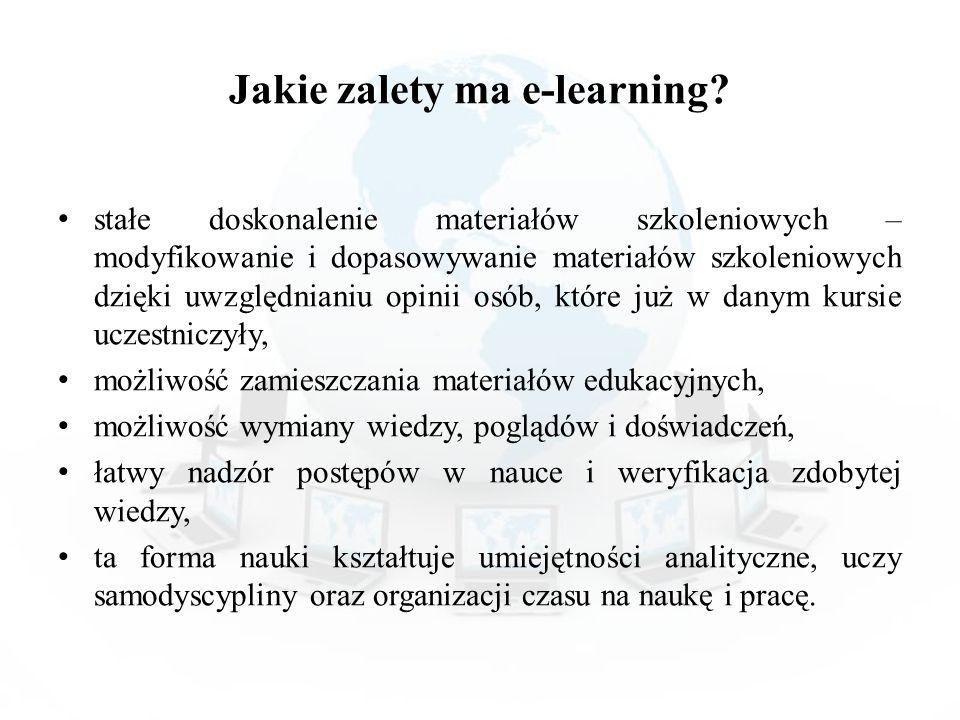 Jakie zalety ma e-learning? stałe doskonalenie materiałów szkoleniowych – modyfikowanie i dopasowywanie materiałów szkoleniowych dzięki uwzględnianiu