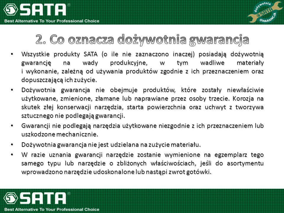 Dokonując zakupu profesjonalnych narzędzi ręcznych SATA chcemy cieszyć się ich długoletnią żywotnością.