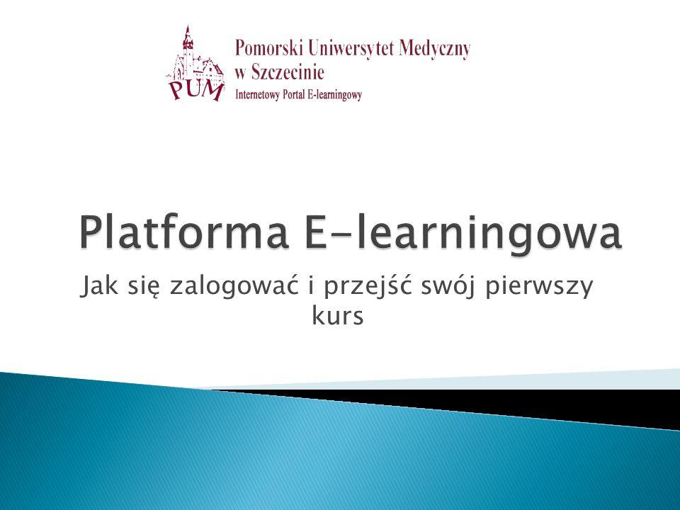 Aby się zalogować należy wejść na stronę http://estudia.pum.edu.pl Okno logowanie znajduje się z prawej strony, należy tam podać swój login – pierwsza litera imienia + nazwisko.