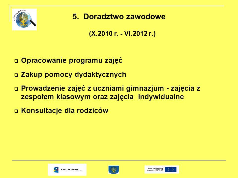 5. Doradztwo zawodowe (X.2010 r.