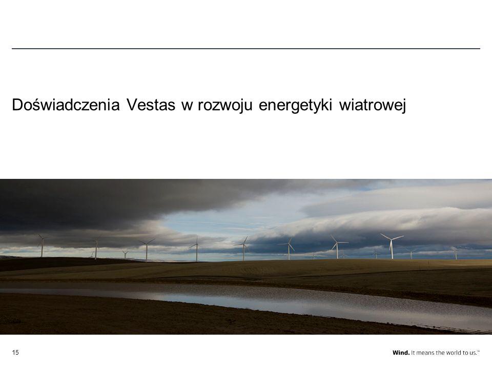 15 Doświadczenia Vestas w rozwoju energetyki wiatrowej