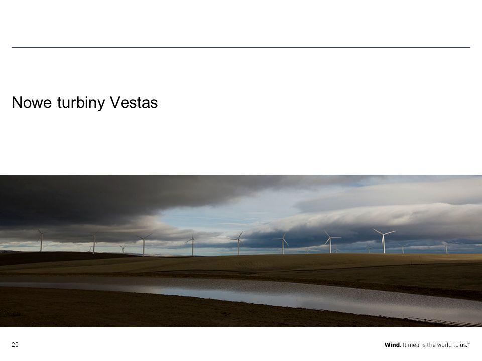 20 Nowe turbiny Vestas