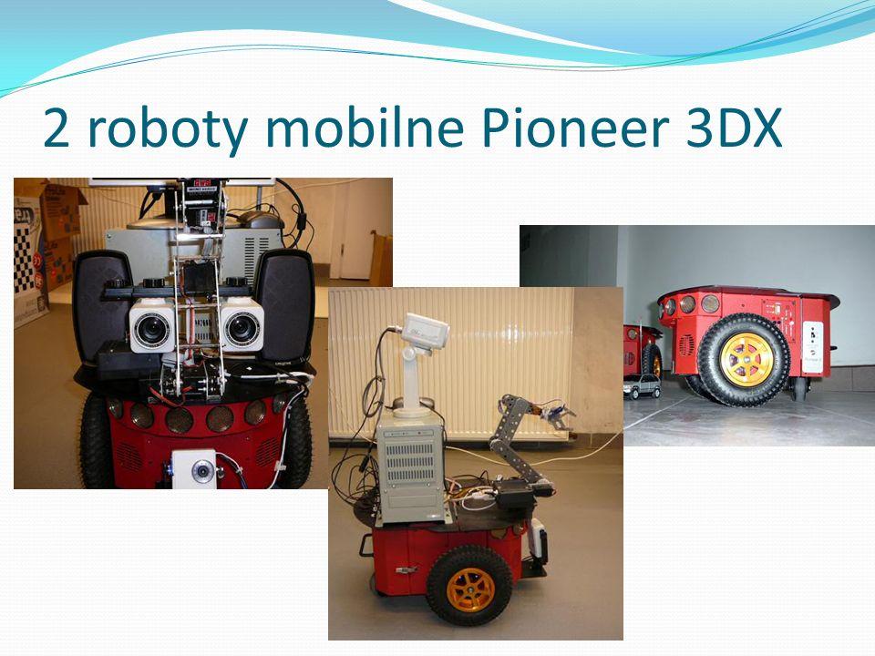 2 roboty mobilne Pioneer 3DX