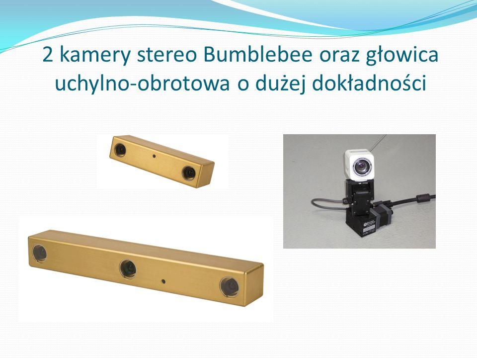 2 kamery stereo Bumblebee oraz głowica uchylno-obrotowa o dużej dokładności