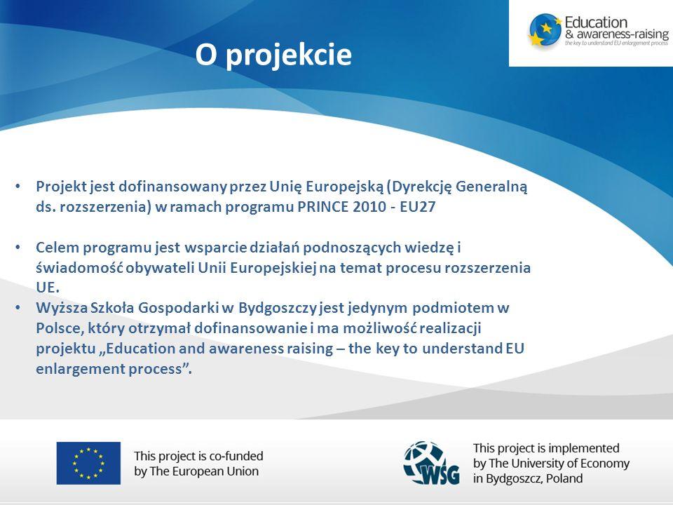 O projekcie Projekt jest dofinansowany przez Unię Europejską (Dyrekcję Generalną ds.
