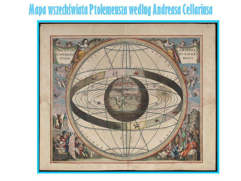 Mapa wszechświata Ptolemeusza według Andreasa Cellariusa