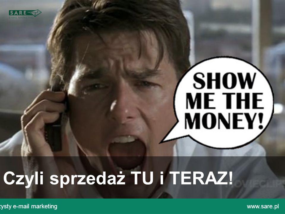 Email marketing w służbie automatyzacji procesów komunikacyjnych i budowania lojalności. Czyli sprzedaż TU i TERAZ! Czysty e-mail marketingwww.sare.pl
