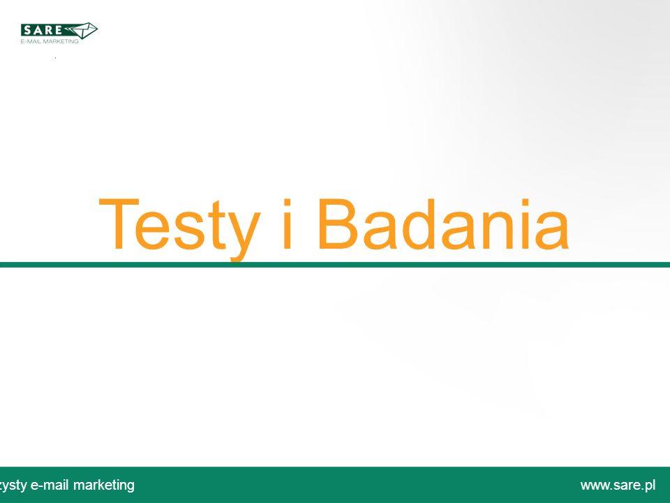 Testy i Badania Czysty e-mail marketingwww.sare.pl